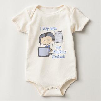 I skip naps for fantasy football blue baby bodysuit