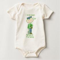 i skip naps for organic farming baby one-piece baby bodysuit