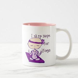 I skip naps for yoga mug