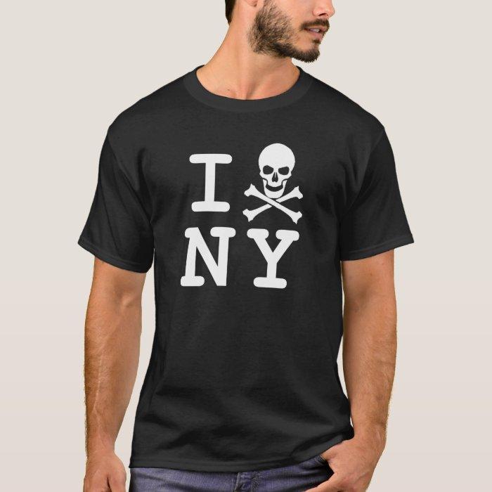I (skull and crossbones) NY (small logo) T-Shirt