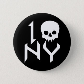I Skull NY Pin