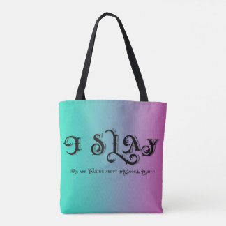 I Slay Dragons Funny Tote Bag