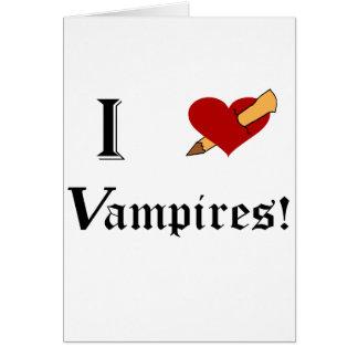 I Slay Vampires Greeting Card