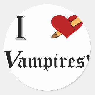 I Slay Vampires Classic Round Sticker