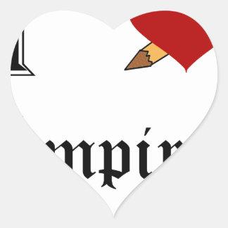 I Slay Vampires Heart Sticker