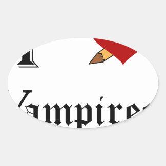 I Slay Vampires Oval Sticker