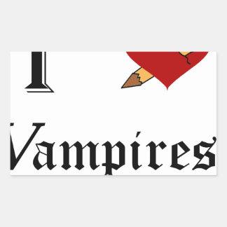 I Slay Vampires Rectangular Sticker