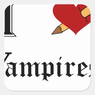 I Slay Vampires Square Sticker