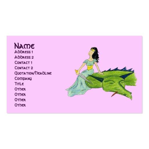 I SLAYED EL DRAGÓN - tarjeta del perfil de la PRIN Tarjeta Personal