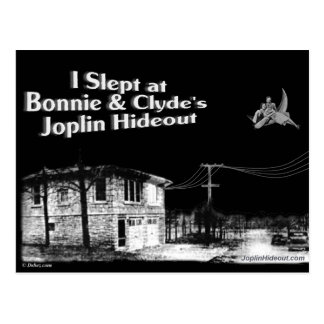 I slept at Bonnie & Clyde's Joplin Hideout Postcard