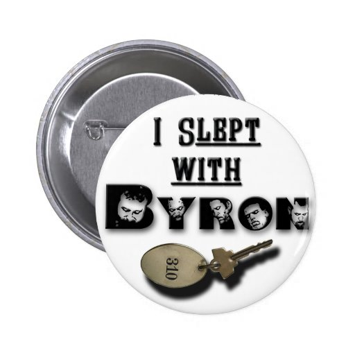 I Slept with Byron key button