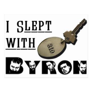 I Slept with Byron Postcard