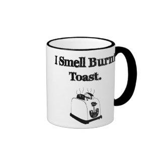 I Smell Burnt Toast Ringer Mug
