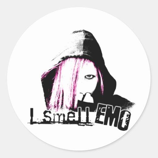 I Smell Emo Classic Round Sticker