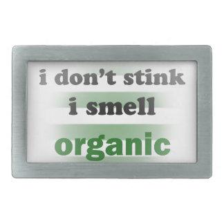 I Smell Organic Rectangular Belt Buckle