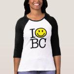 I smile BC women's fitted baseball shirt - black