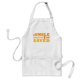 I Smile Because I am Saved Christian apron