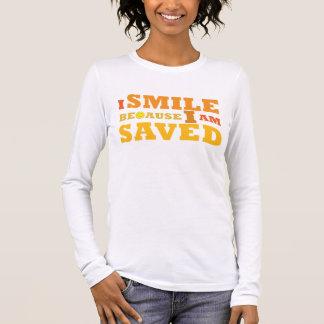 I Smile Because I am Saved long sleeve t-shirt