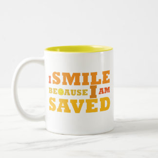 I Smile Because I am Saved mug