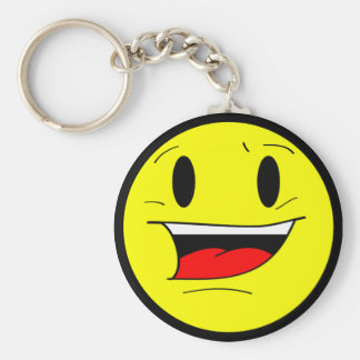 I Smile Because I Hate You Basic Round Button Keychain