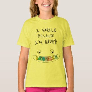 happy tshirt for girls