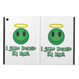 I Smile Because I'm Right Green iPad Air Cases