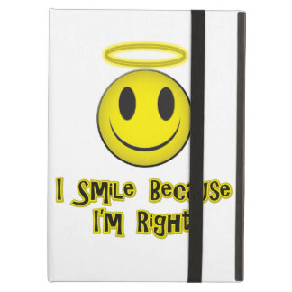 I Smile Because I'm Right Yellow iPad Air Cases