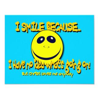 I SMILE BECAUSE...V1 CARD