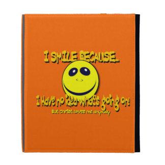 I SMILE BECAUSE...V1 iPad FOLIO CASE