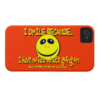 I SMILE BECAUSE...V1 iPhone 4 CASE