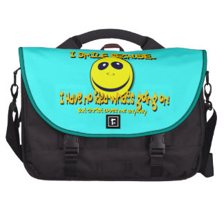 I SMILE BECAUSE...V1 LAPTOP COMPUTER BAG