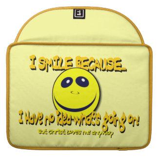 I SMILE BECAUSE V1 SLEEVES FOR MacBook PRO