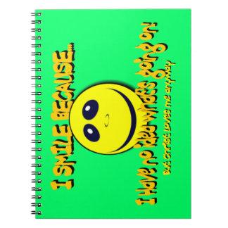 I SMILE BECAUSE...V1 SPIRAL NOTEBOOKS
