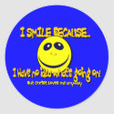I SMILE BECAUSE...V1 STICKERS