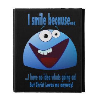 I smile because...V2 iPad Folio Covers