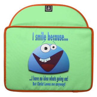 I smile because...V2 MacBook Pro Sleeve