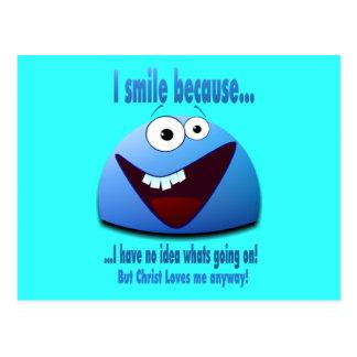 I smile because...V2 Postcard
