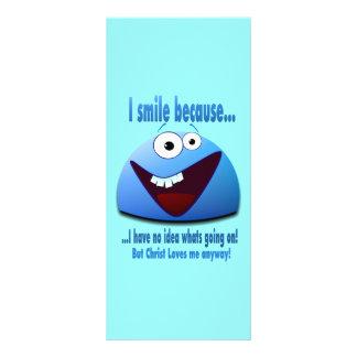 I smile because...V2 Rack Card