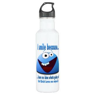 I smile because...V2 Water Bottle