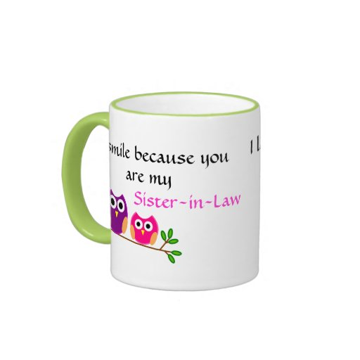 I smile because you are my Sister-in-law Ringer Mug thumbnail