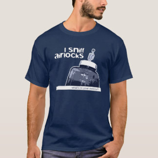 I Sniff Airlocks Blue Homebrew Beer Carboy Shirt