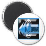 I Snowboard Magnet