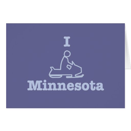 I Snowmobile Minnesota Cards