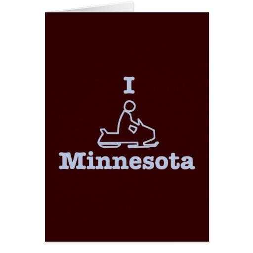 I Snowmobile Minnesota Greeting Card