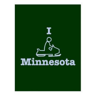 I Snowmobile Minnesota Postcard