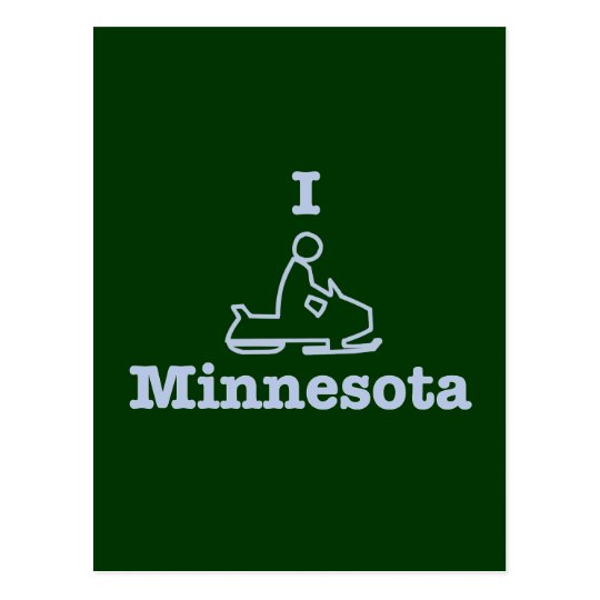 I Snowmobile Minnesota Postcard