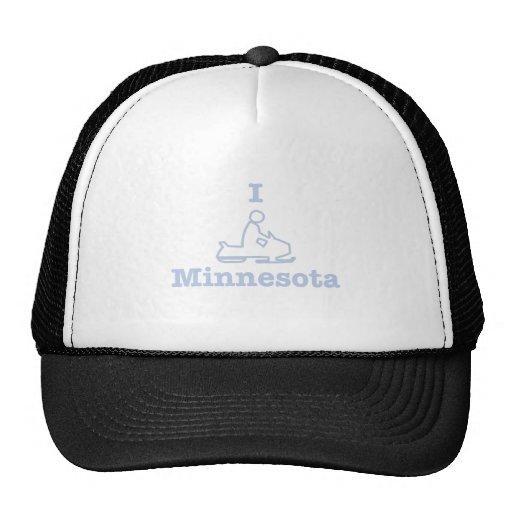 I Snowmobile Minnesota Trucker Hat