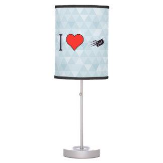 I sobres del corazón lámpara de escritorio