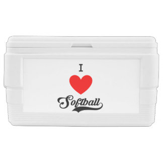 I ♥ Softball Chest Cooler