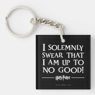 I Solemnly Swear Double-Sided Square Acrylic Keychain